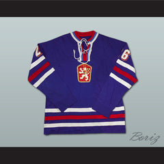 Peter Stastny 26 Czechoslovakia Hockey Jersey Stitch Sewn NEW Any Size or Player - borizcustom - 4
