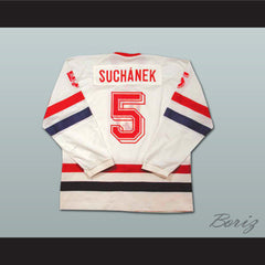 Team Czechoslovakia Suchanek 5 Hockey Jersey Stitch Sewn NEW Any Size or Player - borizcustom - 2