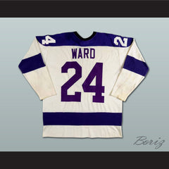 Ron Ward WHA Cleveland Crusaders Hockey Jersey NEW Stitch Sewn - borizcustom - 2