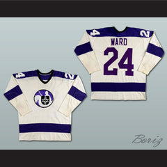 Ron Ward WHA Cleveland Crusaders Hockey Jersey NEW Stitch Sewn - borizcustom - 3