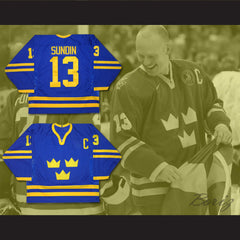 Mats Sundin Team Sweden Hockey Jersey NEW Stitch Sewn - borizcustom