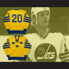 Anders Hedberg Team Sweden Hockey Jersey NEW Stitch Sewn Online Tracking - borizcustom
