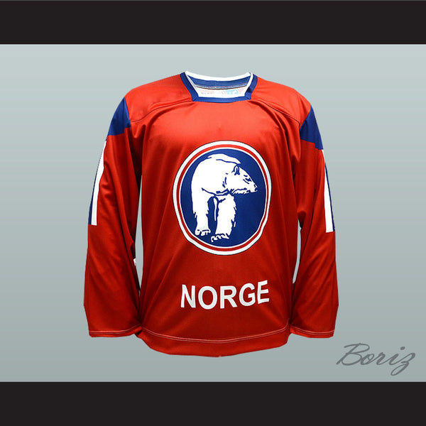 Per-Åge Skrøder Team Norway Hockey Jersey NEW Stitch Sewn - borizcustom - 1