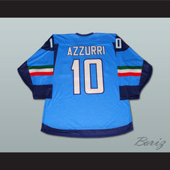 Italian Team Hockey Jersey NEW Stitch Sewn New - borizcustom