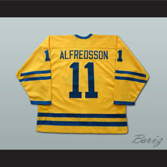 Daniel Alfredsson World Cup Team Sweden Team Hockey Jersey NEW Stitch Sewn - borizcustom