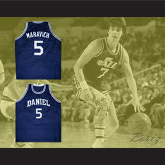 Pete Maravich Daniel High School Basketball Jersey New Any Size - borizcustom - 3