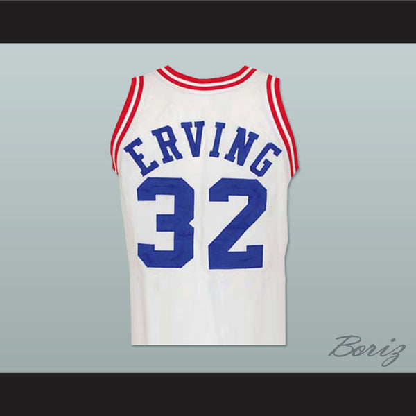 finest selection ecf14 98b54 Legend Julius Erving 32 All Star Basketball Jersey New Any Size