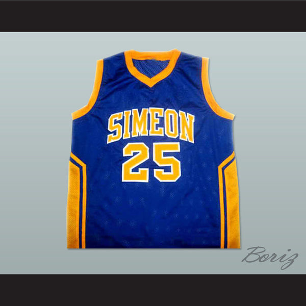 size 40 6c09b 02fe8 simeon vocational high school 25 derrick rose yellow jersey