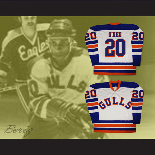... Willie O Ree San Diego Gulls Old School Hockey Jersey NEW Any Size Any  Player 29984c79e