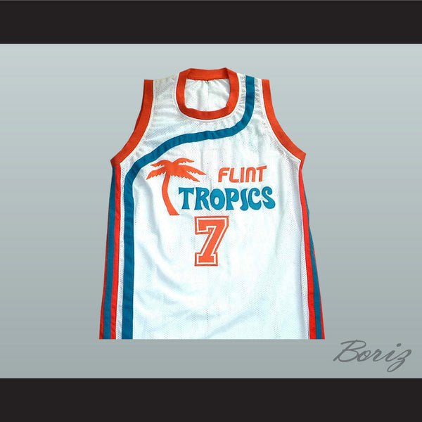 Flint Tropics 7 Coffee Black Basketball Jersey Semi Pro Team New - borizcustom
