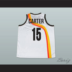 Vince Carter Roswell Rayguns White Basketball Jersey 15 New - borizcustom - 2