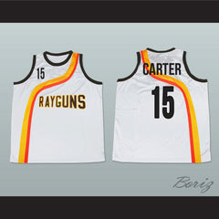 Vince Carter Roswell Rayguns White Basketball Jersey 15 New - borizcustom - 3