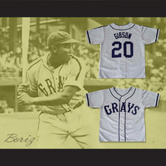 Josh Gibson Homestead Grays Negro League Baseball Jersey New 20 - borizcustom
