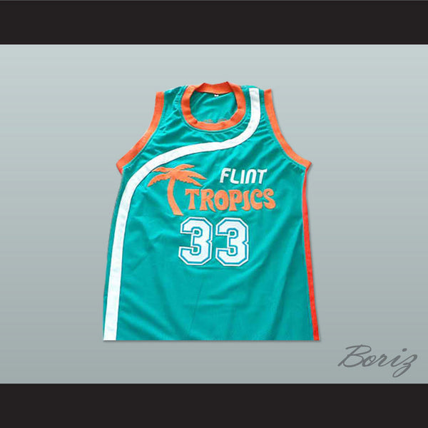 115f8f5d225 Product Image Flint Tropics 33 Jackie Moon Teal Basketball Jersey Semi Pro  Team New - borizcustom ...