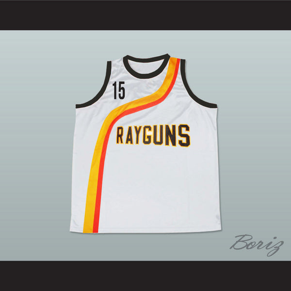 Vince Carter Roswell Rayguns White Basketball Jersey 15 New - borizcustom