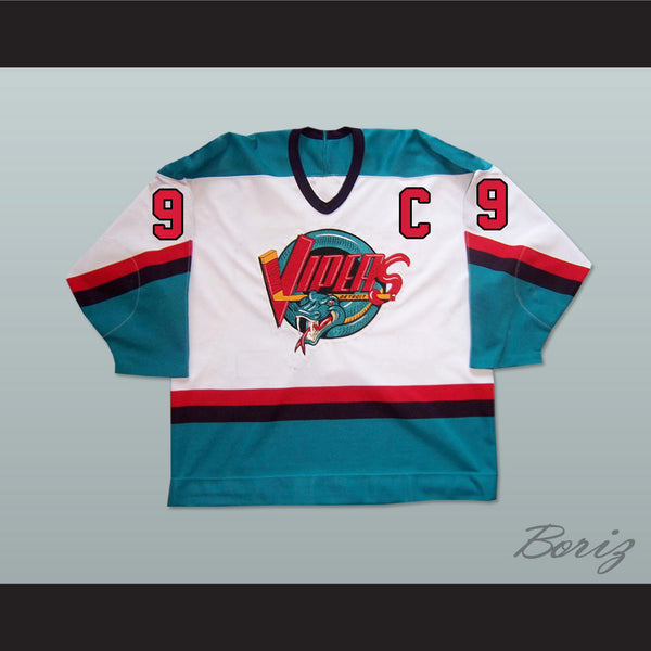 Gordie Howe 9 Detroit Vipers Hockey Jersey Any Size NEW - borizcustom