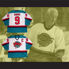 Gordie Howe 9 Detroit Vipers Hockey Jersey Any Size NEW - borizcustom - 3