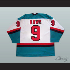 Gordie Howe 9 Detroit Vipers Hockey Jersey Any Size NEW - borizcustom - 2