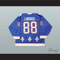 Eric Lindros Quebec Nordiques Draft Hockey Jersey NEW Stitch Sewn Any Size - borizcustom