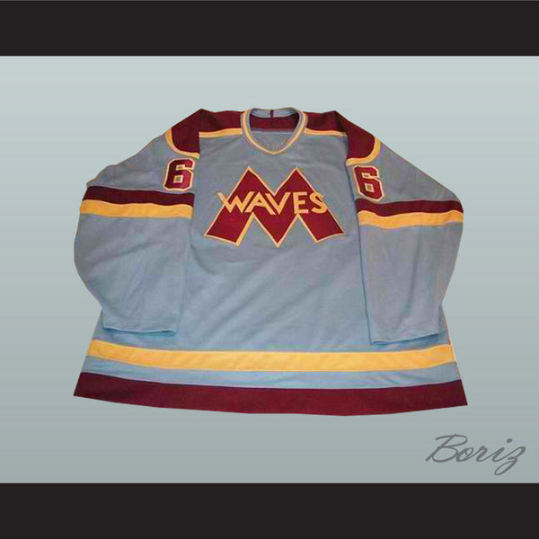 Gordon Bombay  Waves Hockey Jersey NEW Stitch Sewn Any Size - borizcustom