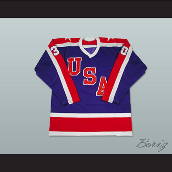Jim Craig Team USA Miracle On Ice Hockey Jersey 30 NEW Stitch Sewn Any Size - borizcustom