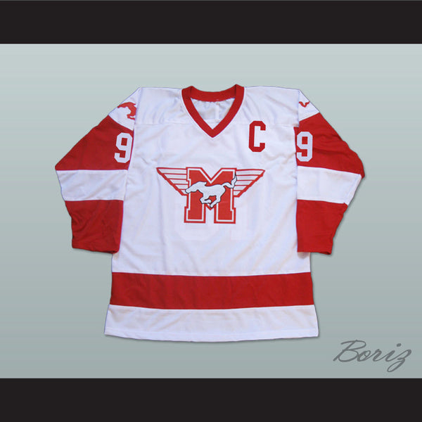 Derek Sutton Hamilton MUSTANGS Hockey Jersey Youngblood Movie Patrick Swayze NEW - borizcustom