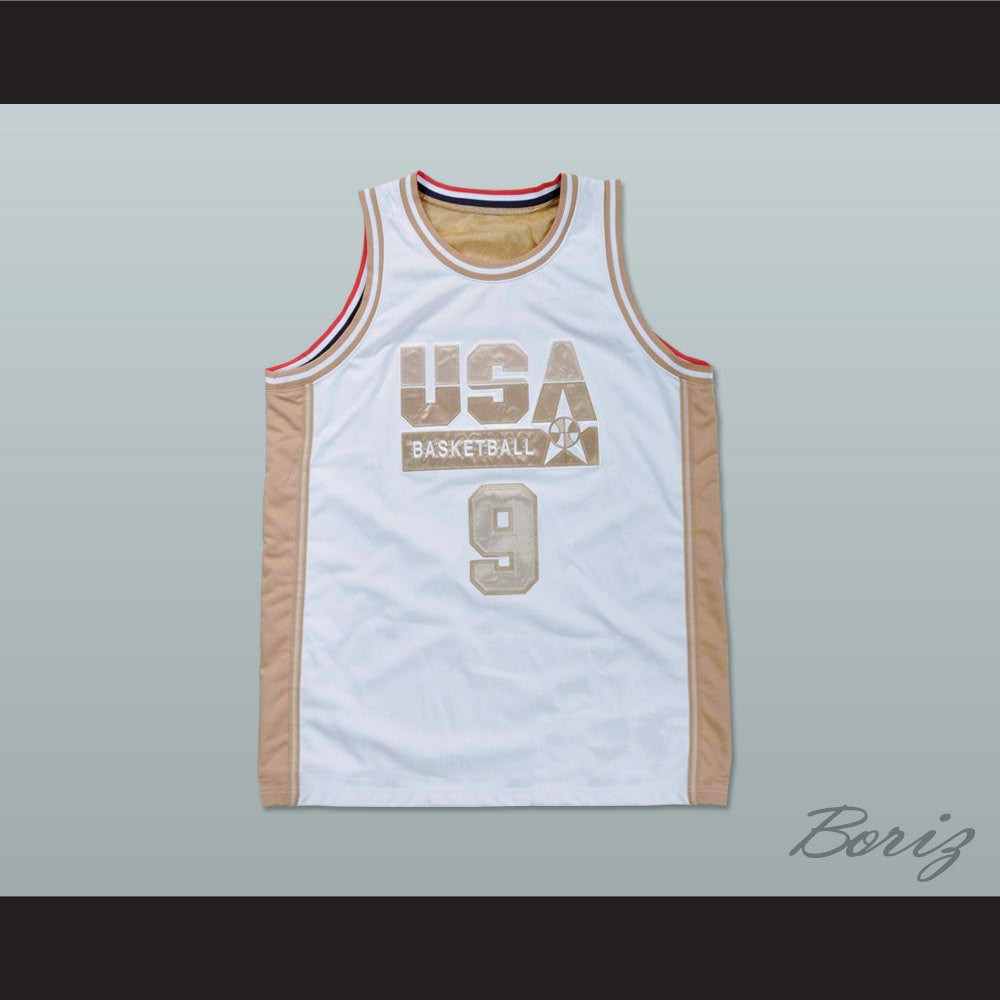 f0c6034ee7b Product Image Michael Jordan Dream Team White and Gold Basketball Jersey  NEW Stitch Sewn - borizcustom Michael Jordan Dream Team White ...