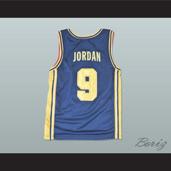 Michael Jordan Dream Team White and Gold Basketball Jersey NEW Stitch Sewn - borizcustom