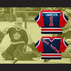 Bob Janecyk New Haven Nighthawks Hockey Jersey NEW Stitch Sewn - borizcustom