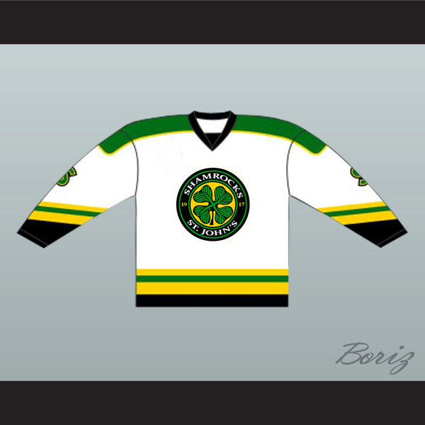 Ross The Boss Rhea St John's Shamrocks Hockey Jersey NEW from Goon Movie - borizcustom