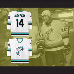 The Lansing Ice Wolves Derek Thompson 14 Minor League Hockey Jersey NEW Stitch Sewn - borizcustom - 3