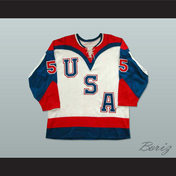 Team USA Tie Down Hockey Jersey NEW Stitch Sewn Any Player or Number - borizcustom