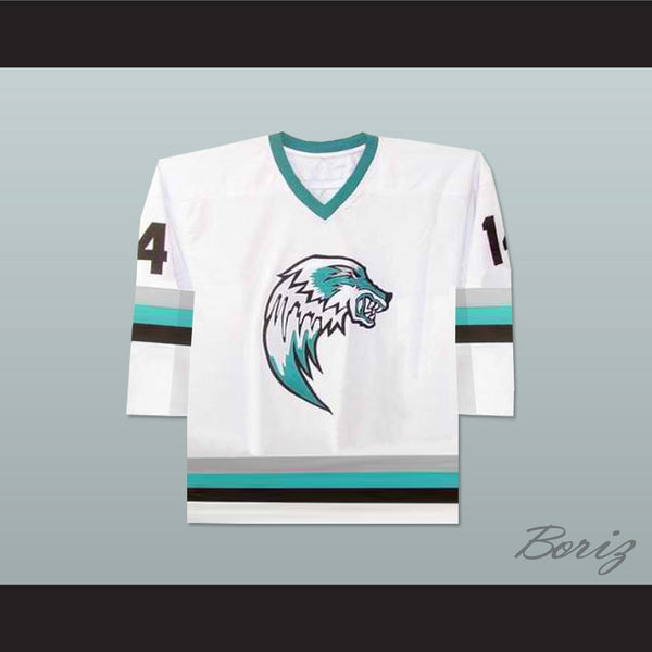 The Lansing Ice Wolves Derek Thompson 14 Minor League Hockey Jersey NEW Stitch Sewn - borizcustom
