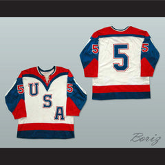 Team USA Tie Down Hockey Jersey NEW Stitch Sewn Any Player or Number - borizcustom - 3