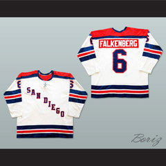 Bob Falkenberg San Diego Mariners Hockey Jersey NEW Stitch Sewn Any Player or Number - borizcustom