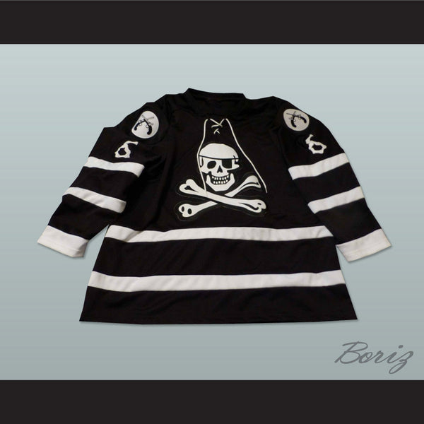 Lake Charles Ice Pirates WPHL John Hanson Hockey Jersey NEW Stitch Sewn - borizcustom