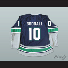 WHL Legend Glen Goodall 10 Seattle T-Birds Hockey Jersey Stitch Sewn New - borizcustom - 2