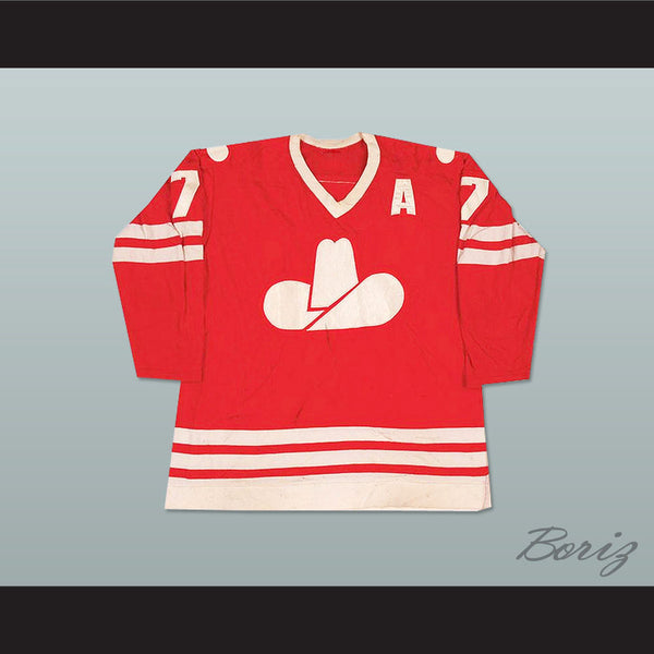 Ron Chipperfield 7 WHA Calgary Cowboys Hockey Jersey NEW - borizcustom - 1