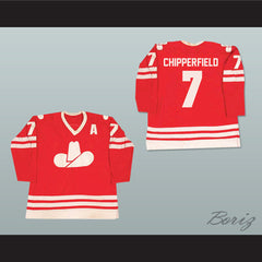 Ron Chipperfield 7 WHA Calgary Cowboys Hockey Jersey NEW - borizcustom - 3