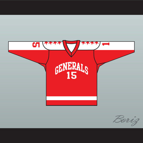 1970 EHL Greensboro Generals Red Hockey Jersey NEW Any Number - borizcustom