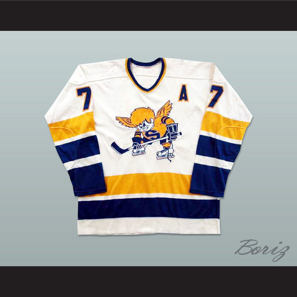 Wayne Connelly Minnesota Fighting Saints WHA Hockey Jersey New - borizcustom