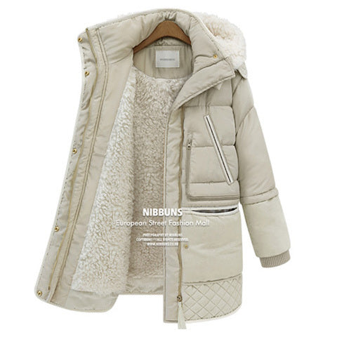 62a4e0975 2016 new winter thick down jackets white duck feather lamb wool imitat