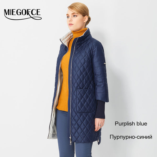 ... 2017 Women s Coat Spring Autumn Women s Fashion Windproof Parkas Female  Spring Jacket With Scarf New Design ... 5f2f15756e4c