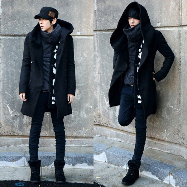 Markyi 2016 New Arrival Winter Trench Coat Men Double Button Cheap Men