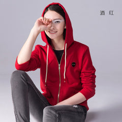 Toyouth Hoodies Women 2017 Autumn Zipper Closured Long Sleeve Hooded O-neck Fleece Casual Tracksuit