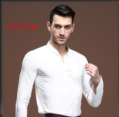 new mens white dance shirt Competition Performance Ballroom Modern Salsa Tango Samba latin mens shirts boys dancewear 3 color