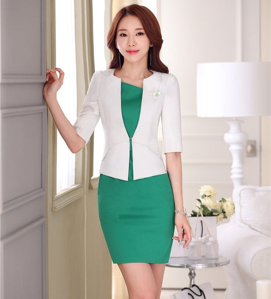 480b12dfff2b Formal OL Styles Spring Summer Professional White Business Women Unifo