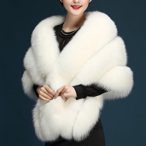 4c51f50227118 Winter cold weather faux fox fur pashmina super large patchwork wraps bride  faux fur shawl luxurious