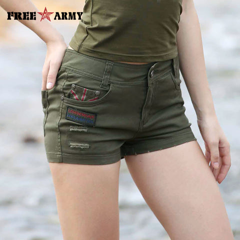 4d050031e580 2017 Fashion Short Women Military Summer Style Sexy Summer Hot Mini Style  Casual Army Green Shorts
