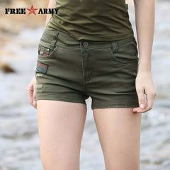 2017 Fashion Short Women Military Summer Style Sexy Summer Hot Mini Style Casual Army Green Shorts Free Army Gk-9502A
